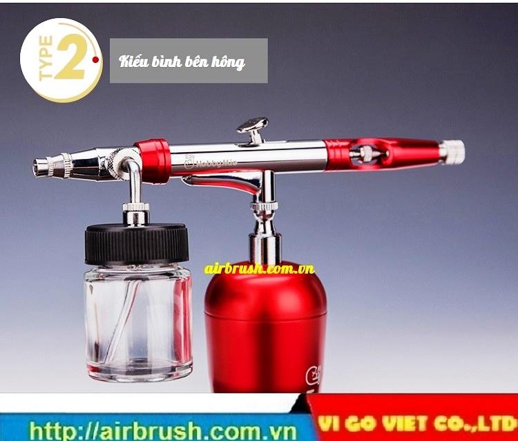 Bút vẽ súng vẽ mỹ thuật airbrush Hobby Mio