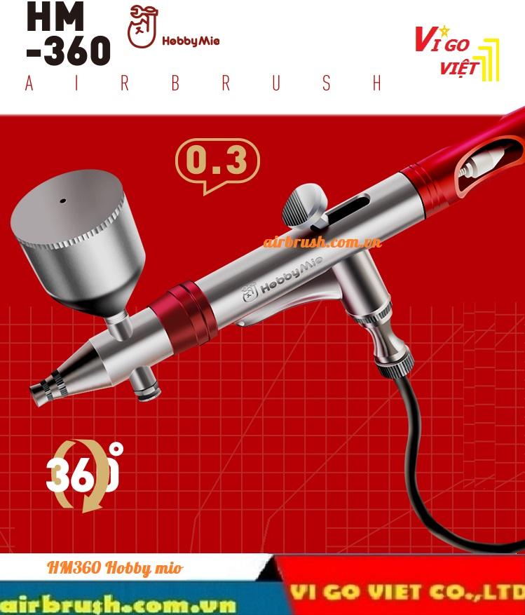 Bút vẽ mỹ thuật xoay 360 độ HM-360 Hobby Mio